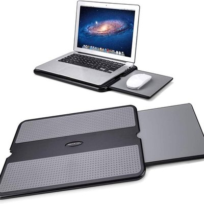 AboveTEK Portable Laptop Lap Desk with Retractable Mouse Pad Tray