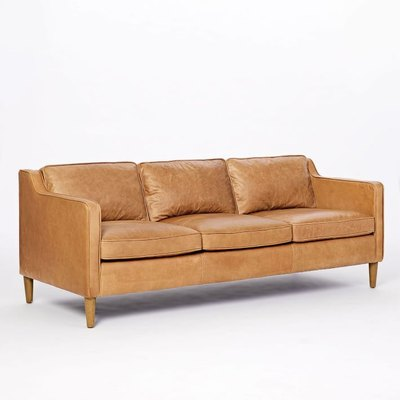 Hamilton Leather 3-Seater Sofa