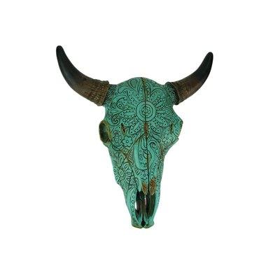 De Leon Turquoise Bull Skull