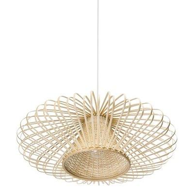 Handwoven Bamboori Discus Pendant Lamp