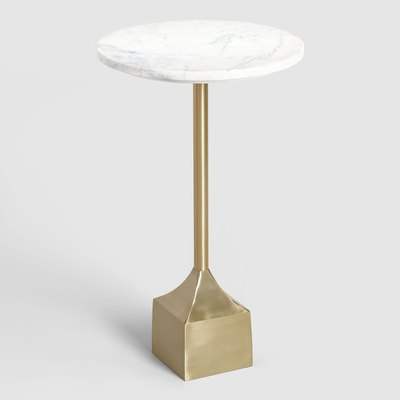 Marble and Gold Norah Accent Table