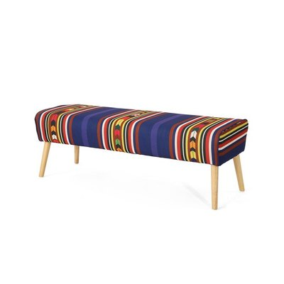 This midcentury fully upholstered ottoman bench is a great addition for any room in your home. Made with your comfort in mind, this bench features an extra plush cushioned seat top with stylish mid-century legs to finish off the look.