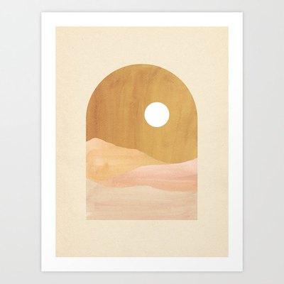 Whales Way Boho Landscape Print