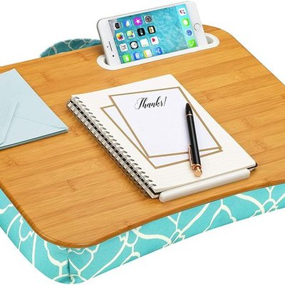 LapGear Designer Lap Desk with Phone Holder and Device Ledge