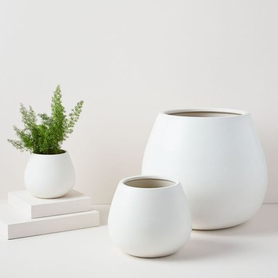 Pure White Ceramic Planter