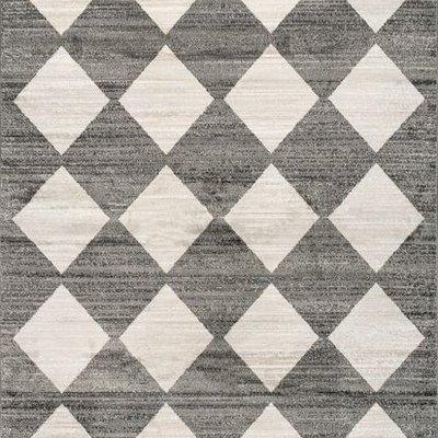 Gray Kayla Checkerboard Area Rug