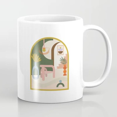 Cool-Girl Living Room Coffee Mug