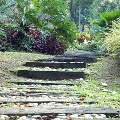 How to Build Steps on a Slope Using Railroad Ties