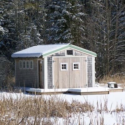 How to Raise & Straighten Shed Doors With Turnbuckles