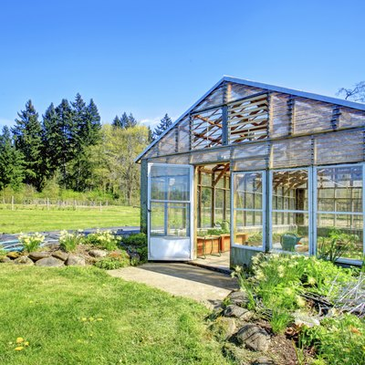 Farm with greenhouse