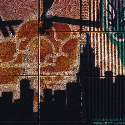 Painting Murals on a Cinder Block Wall
