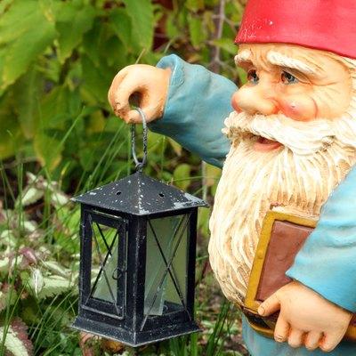 Garden Gnome Holding a Lantern