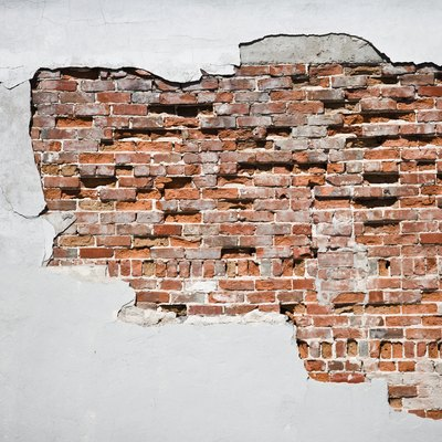 How to Create Faux Exposed Brick Wall Using Venetian Plaster & Stone Veneer