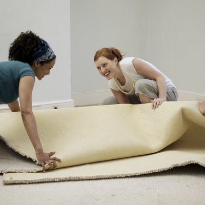 How to Pull Up Carpet & Polish a Concrete Floor