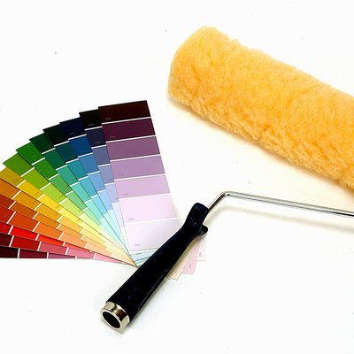 Paint roller and color samples