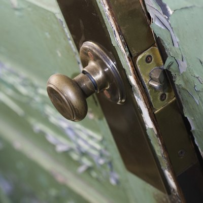 How to Fix a Push Button Door Knob That Won't Lock