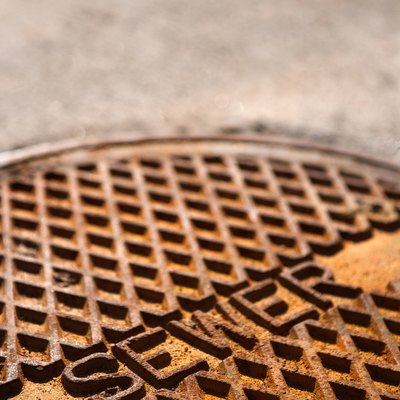 Close-up of manhole cover