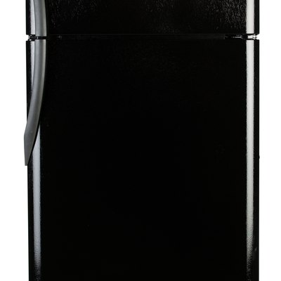 Scratches on a Black Glossy Refrigerator