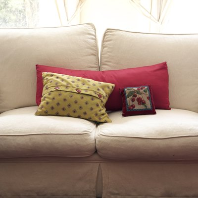 How to Reupholster a Couch Without a Removable Cushion