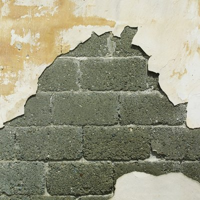 Water-Damaged Concrete Block Walls