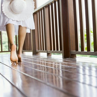 How to Lay Garden Decking on Uneven Concrete