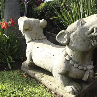 Sealing Concrete Garden Ornaments