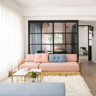 Just Wait Until You See the Colors of This Stunning Hong Kong Apartment