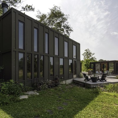 A 960-Square-Foot Indiana Home Was Built Into the Hillside of a Family Plot