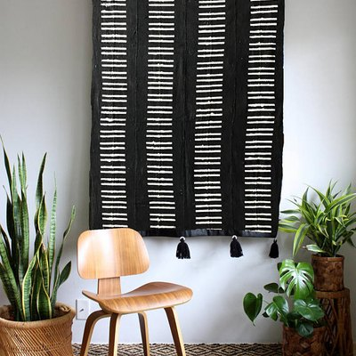 tasseled wall hanging