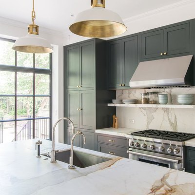 bright kitchen cultured marble counter black cabinets