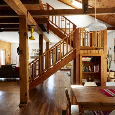 This Boho Catskills Cabin Was Once a Disco