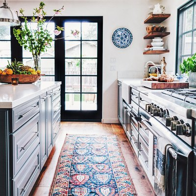 rug runner in kitchen