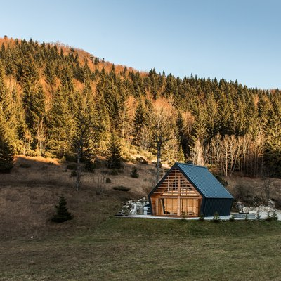 A Slovenian Vacation Home's Design Stays True to Its Natural Surroundings