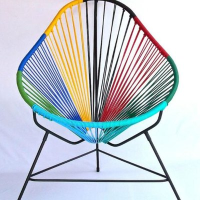 falabella multicolored acapulco chair white background