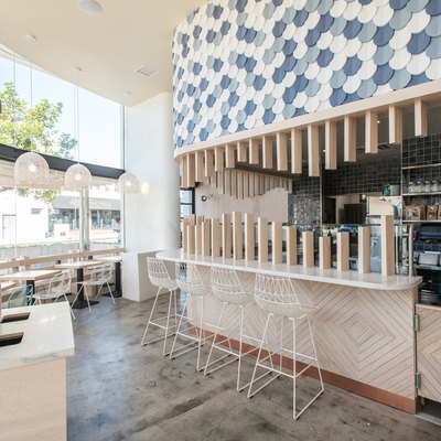A Colorful Tile Mural at L.A.'s Sweetfin Takes Minimalism Up a Notch