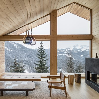A Family's Home in the French Alps Skirts Traditionalism for a Modern Look
