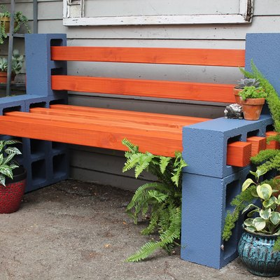 How To Make a Simple Outdoor Bench