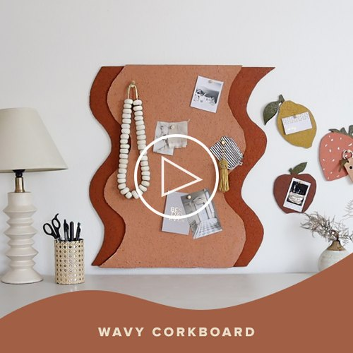 Wavy Corkboard DIY
