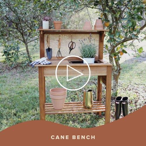Cane Potting Bench