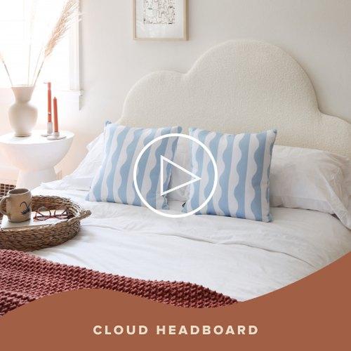 DIY Cloud Headboard
