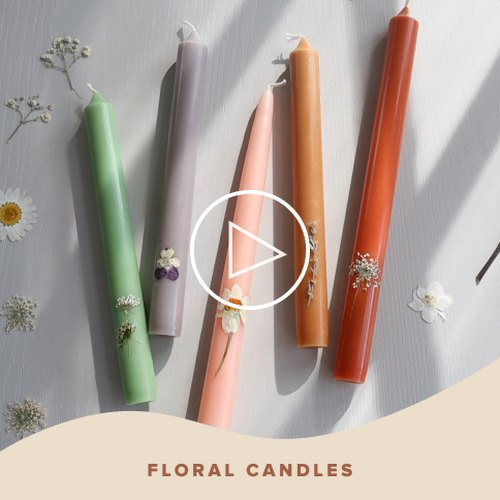 Floral Candles