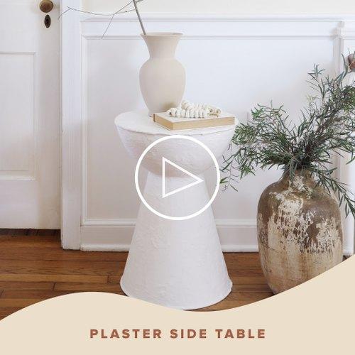 Plaster Side Table