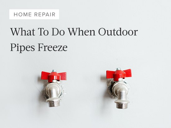 What To Do If Your Outside Faucet is Frozen