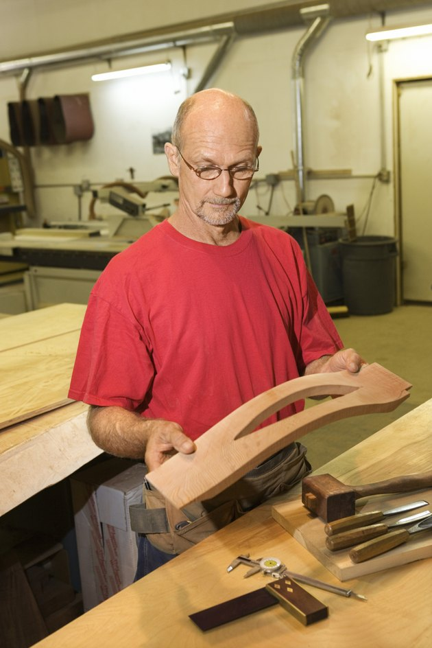 Man in woodshop