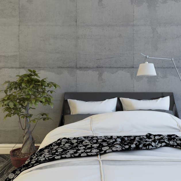 Bed In Concrete Room