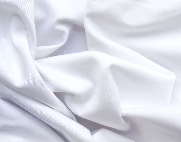 Waved white textile