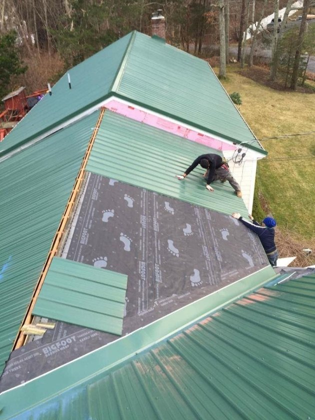 Install raised seam metal roof.
