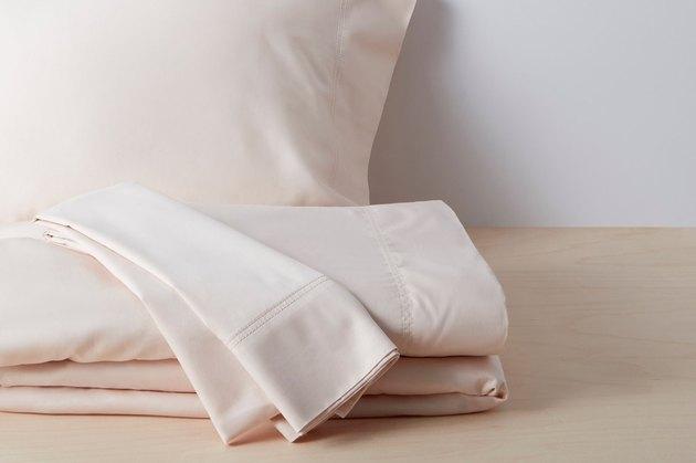 blush sateen sheet set