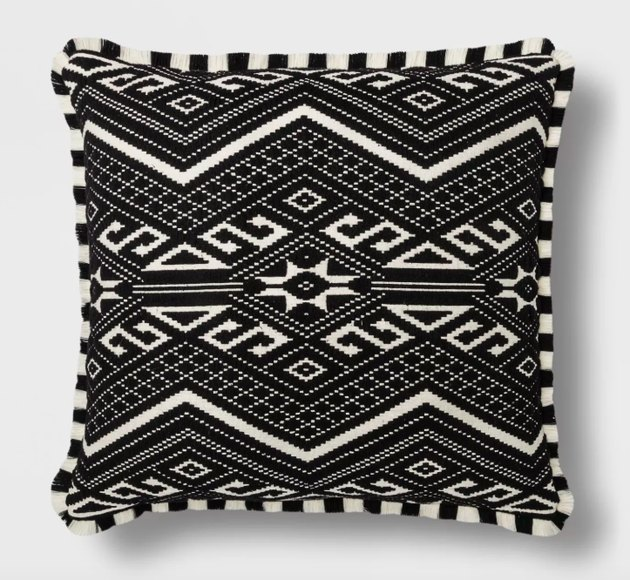 Opalhouse Fringed Jacquard Throw Pillow, $29.99