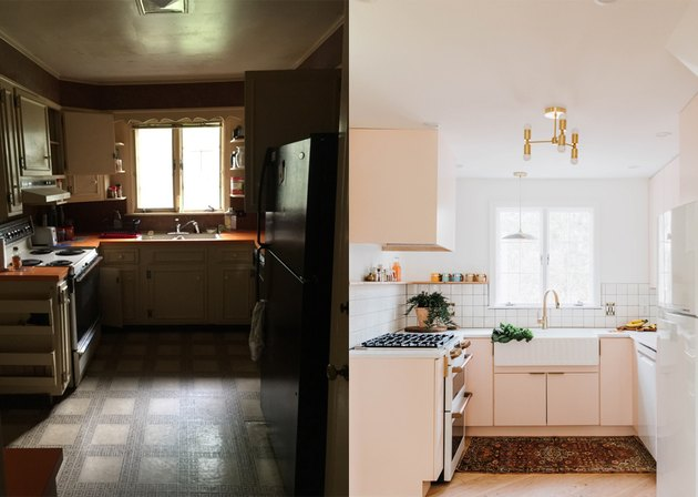before and after photos of kitchen
